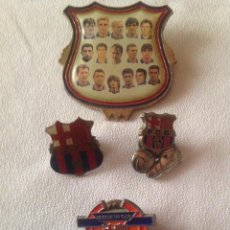 Coleccionismo deportivo: F.C.BARCELONA: CUATRO ANTIGUAS INSIGNIAS FUTBOL CLUB BARCELONA. Lote 149969718