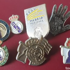 Coleccionismo deportivo: BONITO LOTE DE 7 PINS REAL MADRID , CENTENARIO, 5-0 ETC.. Lote 155686764