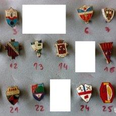 Coleccionismo deportivo: INSIGNIAS ANTIGUAS DE CLUBES DE FUTBOL DE ESPAÑA LOTE 3. Lote 156417413