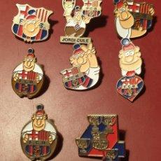 Coleccionismo deportivo: REBAJADO, PRECIO FIJO: BONITO LOTE 8 PINS BARÇA BARCELONA C.F. LINEVA + LINEVA JORDI CULE. Lote 155877620