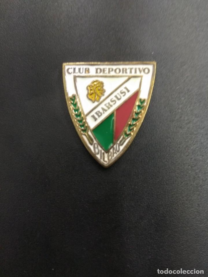 PIN FUTBOL VASCO CLUB DEPORTIVO IBARSUSI BILBAO ANTIGUO ORIGINAL ESMALTADO UNICO TC RARO VIZCAYA (Coleccionismo Deportivo - Pins de Deportes - Fútbol)