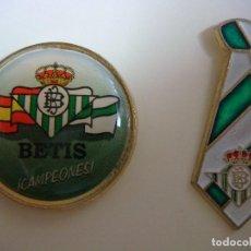 Coleccionismo deportivo: PINS DEL FUTBOL REAL BETIS 2 PINS. Lote 160723534