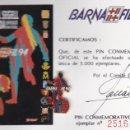Coleccionismo deportivo: PIN CONMEMORATIVO BARNAFIL 94 DEL FUTBOL CLUB BARCELONA TIRADA LIMITADA 5000 (BARÇA FUNDACIO). Lote 160805266