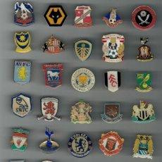 Coleccionismo deportivo: LOTE DE PINS DE 41 CLUBES HISTÓRICOS DE LA PREMIER LEAGUE INGLESA - PIN FUTBOL. Lote 162031274