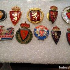 Coleccionismo deportivo: LOTE INSIGNIAS PINS FÚTBOL ZARAGOZA. Lote 164944002