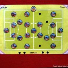Coleccionismo deportivo: LOTE DE 21 PINS ALINEACIÓN VALENCIA C F TEMPORADA 95-96 MESTALLA LINEVA . DIFÍCIL. Lote 165994658
