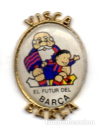 PIN-VISCA BARCA (Coleccionismo Deportivo - Pins de Deportes - Fútbol)