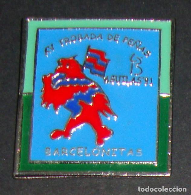 (TC-114-10) PIN F. C. BARCELONA BARÇA XV TROBADA DE PEÑAS BARCELONISTAS AGUILAS 91 (Coleccionismo Deportivo - Pins de Deportes - Fútbol)