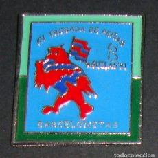 Coleccionismo deportivo: (TC-114-10) PIN F. C. BARCELONA BARÇA XV TROBADA DE PEÑAS BARCELONISTAS AGUILAS 91. Lote 170066082
