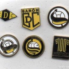 Coleccionismo deportivo: LOTE DE 6 PINS DEL HISTORIAL DE CAYON C.D.- SANTA MARIA DE CAYON-CANTABRIA. Lote 173860825