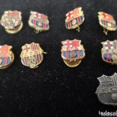 Coleccionismo deportivo: 9 PINS FUTBOL CLUB BARCELONA. Lote 174305460