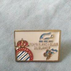 Coleccionismo deportivo: PIN PENYA ESPANYOL ESPAÑOL PENYA ESPANYOLISTA BLANES. Lote 174964387