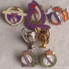 Coleccionismo deportivo: REAL MADRID CLUB FUTBOL LOTE DE PINS DISTINTAS FORMAS Y TEMAS. Lote 176197558