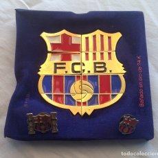 Coleccionismo deportivo: LOTE PINS F.C. BARCELONA, PINS PUZLE ESCUDO, PEÑA Y ESCUDO. Lote 176498544