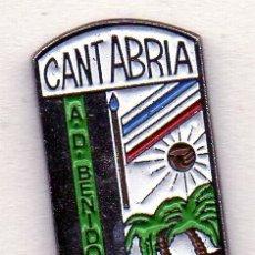 Coleccionismo deportivo: PIN DE FUTBOL-BENIDORM A.D.-SANTANDER-CANTABRIA. Lote 177189184