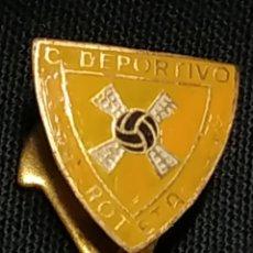 Coleccionismo deportivo: ANTIGUO PIN INSIGNIA DE SOLAPA - CLUB DEPORTIVO ROTETA. Lote 178099362
