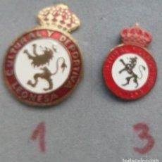 Coleccionismo deportivo: INSIGNIAS DE LEONESA. Lote 153483754