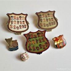Coleccionismo deportivo: LOTE DE PINS Y O BROCHES DE FUTBOL ESCUDO BARCELONA. Lote 178671301