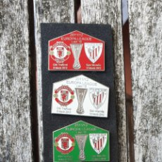 Coleccionismo deportivo: PINS ATHLETIC BILBAO V MANCHESTER UNITED EUROPA LEAGUE 2011/12. Lote 179169550