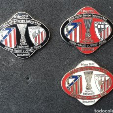 Coleccionismo deportivo: LOTE 3 PINS ATHLETIC BILBAO V ATLETICO MADRID FINAL EUROPA LEAGUE 2012. Lote 179169857