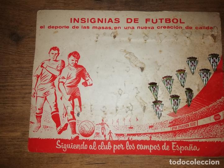 IMPRESIONANTES INSIGNIAS ANTIGUAS DE FÚTBOL CÓRDOBA CLUB DE FÚTBOL. AÑOS 60-70 (Coleccionismo Deportivo - Pins de Deportes - Fútbol)