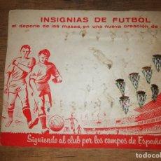 Coleccionismo deportivo: IMPRESIONANTES INSIGNIAS ANTIGUAS DE FÚTBOL CÓRDOBA CLUB DE FÚTBOL. AÑOS 60-70. Lote 181973166