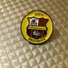 Coleccionismo deportivo: ANTIGUO PIN PEÑA PENYA BARCELONISTA DE LA POBLA CASTELLAR. Lote 186092068