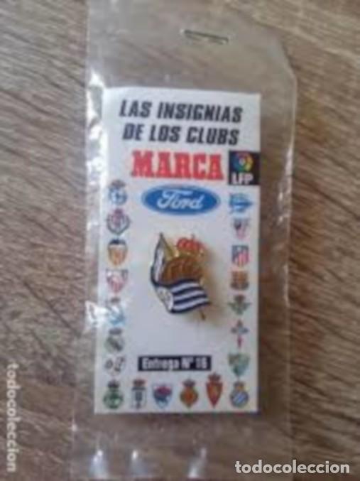PIN REAL SOCIEDAD, COLECCION MARCA, PRECINTADO (Coleccionismo Deportivo - Pins de Deportes - Fútbol)