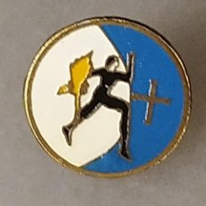 Coleccionismo deportivo: PIN FUTBOL CATALUNYA - POLIESPORTIU JOANENC - SANT JOAN LES FONTS - GIRONA. Lote 203399143