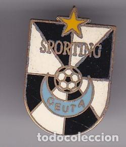 PIN DEL EQUIPO DE FUTBOL CLUB SPORTING CEUTA (FOOTBALL) CEUTA Y MELILLA (Coleccionismo Deportivo - Pins de Deportes - Fútbol)