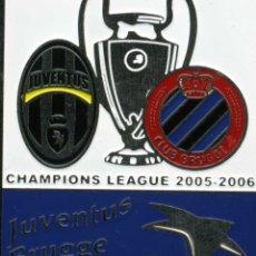 Coleccionismo deportivo: CHAMPIONS LEAGUE 2005-06 JUVENTUS - BRUJAS. Lote 204252511