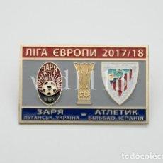 "Coleccionismo deportivo: BADGE PIN: UEFA EUROPA LEAGUE 2017-18 ZORYA LUGANSK UKRAINE - "" ATHLETIC CLUB BILBAO "" SPAIN. Lote 206900345"