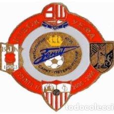 Coleccionismo deportivo: BADGE PIN:UEFA CUP 2005-06 GROUP H - ZENIT, SEVILLA FC, BESIKTAS JK, BOLTON WANDERERS, VITORIA SC. Lote 206925735