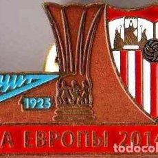 Coleccionismo deportivo: BADGE PIN: UEFA EUROPA LEAGUE 2014-15 FC ZENIT ST. PETERBURG RUSSIA - SEVILLA SPAIN. Lote 206927137