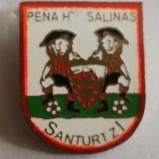 Collezionismo sportivo: ATHLETIC CLUB BILBAO PIN PEÑA HNOS. SALINAS DE SANTURTZI. Lote 207633698