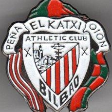 Colecionismo desportivo: PINS DE FUTBOL ATHLETIC PEÑA EL KATXI DE OION (ALAVA). Lote 209058690