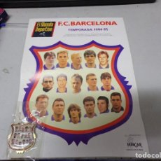 Coleccionismo deportivo: PIN FUTBOL F.C.BARCELONA 1994-95 CON SU HOJA PROMOCIONAL NUEVO RESTO TIENDA. Lote 210331068