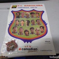 Coleccionismo deportivo: PIN FUTBOL F.C.BARCELONA TEMPORADA 1993-94 EN SU HOJA PROMOCIONAL NUEVO RESTO TIENDA. Lote 210331287