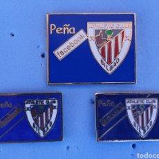 Coleccionismo deportivo: PINS ATHLETIC BILBAO PEÑA FACEBOOK. Lote 210472068