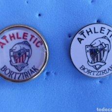 Coleccionismo deportivo: PIN ATHLETIC BILBAO PEÑA BORTZIRIAK. Lote 210475856