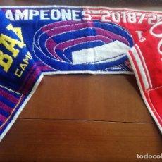 Coleccionismo deportivo: FC BARCELONA LIVERPOOL CHAMPIONS LEAGUE FUTBOL BUFANDA SCARF FOOTBALL. Lote 213683750