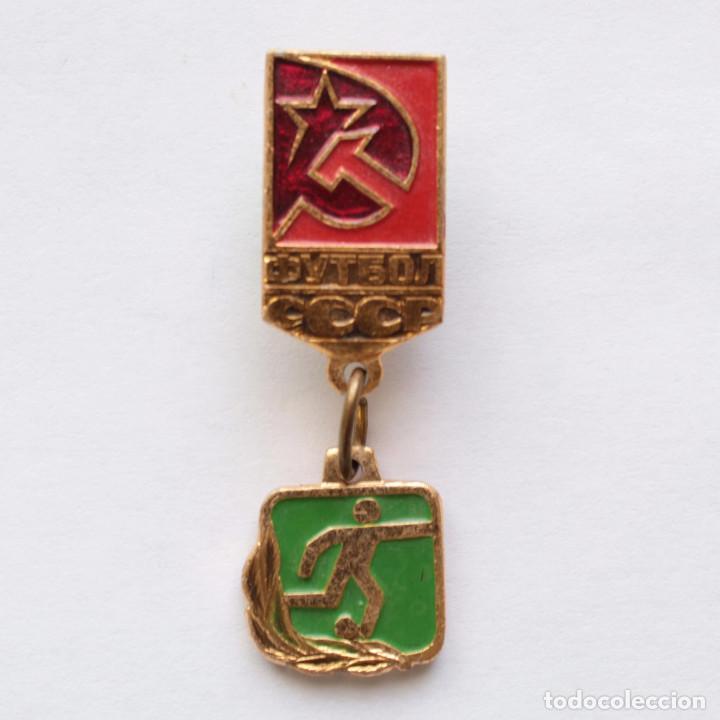 PIN FUTBOL UNION SOVIETICA OLIMPIADAS 1980 (Coleccionismo Deportivo - Pins de Deportes - Fútbol)