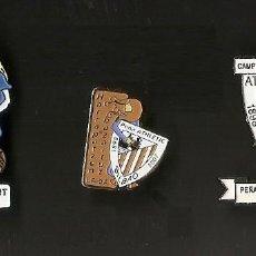 Coleccionismo deportivo: 3 PINS ATHLETIC CLUB BILBAO. PEÑA HARRAPATZEN BAZAITUT. LEIOA. CAMPO LAMIAKO. ORIGINALES. Lote 219343376
