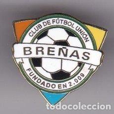 Colecionismo desportivo: PIN DE FUTBOL DEL CLUB DEPORTIVO BREÑAS (FOOTBALL) TENERIFE. Lote 219970331