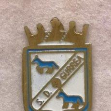 Coleccionismo deportivo: PIN FUTBOL - HUESCA - GURREA DE GALLEGO - SD GURREA. Lote 220805631