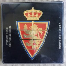 Coleccionismo deportivo: ESCUDO DEL REAL ZARAGOZA (BAÑADO EN ORO DE 24K). Lote 221234708