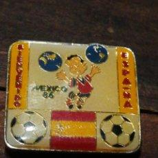 Coleccionismo deportivo: PIN MUNDIAL FUTBOL MÉXICO 86- BIENVENIDO ESPAÑA, ESMALTADO.. Lote 221398006