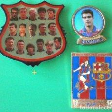 Coleccionismo deportivo: LOTE PINS BARÇA (AÑOS 90) GUARDIOLA, PEÑAS L'ESCALA 1992 - F. C. BARCELONA - FCB - FUTBOL. Lote 221463680