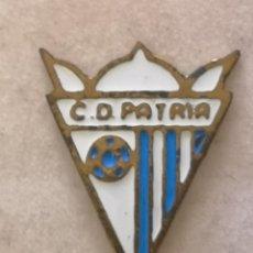 Coleccionismo deportivo: PIN FUTBOL - ZARAGOZA - CD PATRIA. Lote 221984085