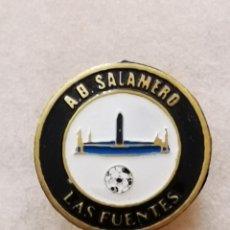 Coleccionismo deportivo: PIN FUTBOL - ZARAGOZA - AD SALAMERO - SOLAPA. Lote 222098490